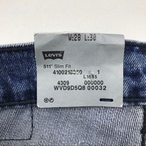 Levi's Jeans - Levi's 511 Line 8 Slim Fit Blue Jeans Re/Done